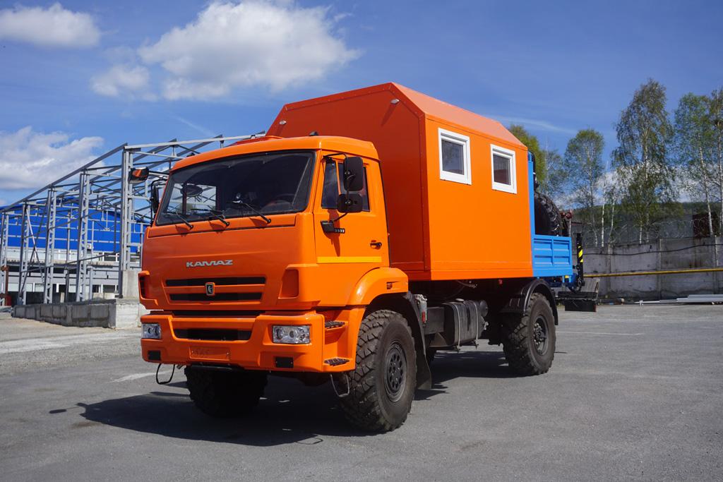 Мастерская АНРВ-1УС с КМУ ИМ-50 на шасси КАМАЗ 43502-3026-45