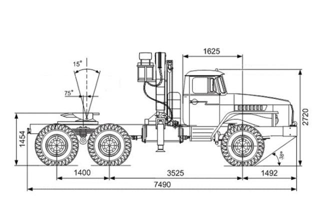«Урал 55571» с гидроманипулятором ИНМАН ИМ-150