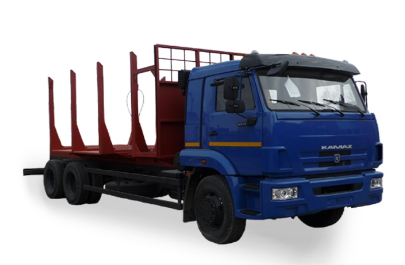 Сортиментовозный тягач «Камаз 65117», общий вид