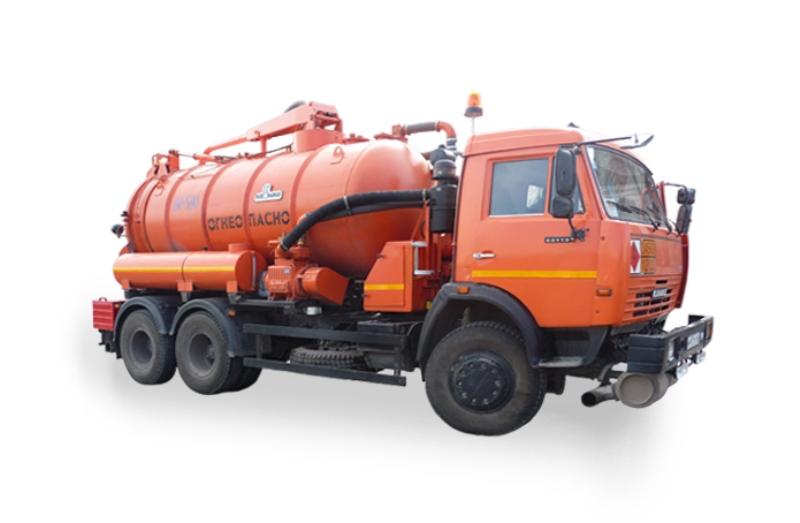 Машина коммунальная дорожная КО-829Б «Камаз 65115», вид с боку