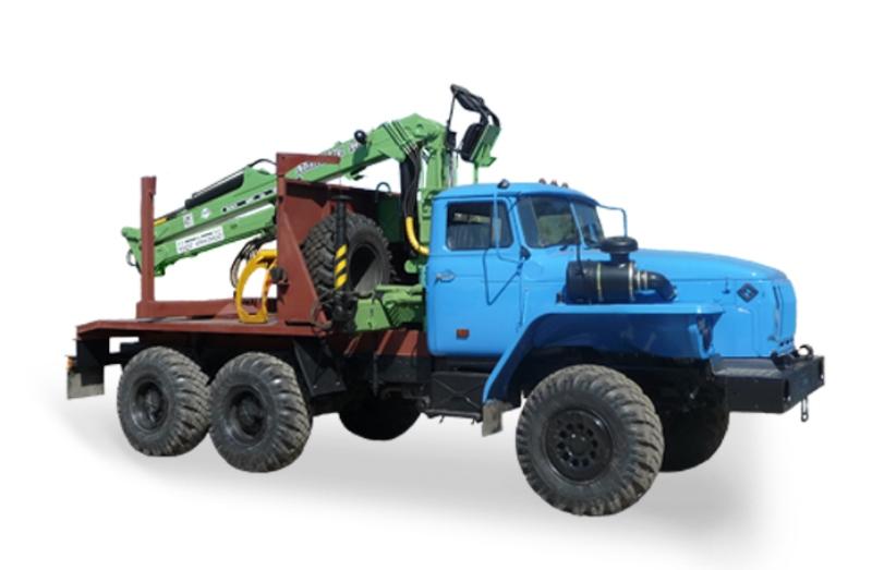 Лесовоз с гидроманипулятором ЛВ-185-14 (Атлант-90) 4456N5-20 на шасси Урал 55571