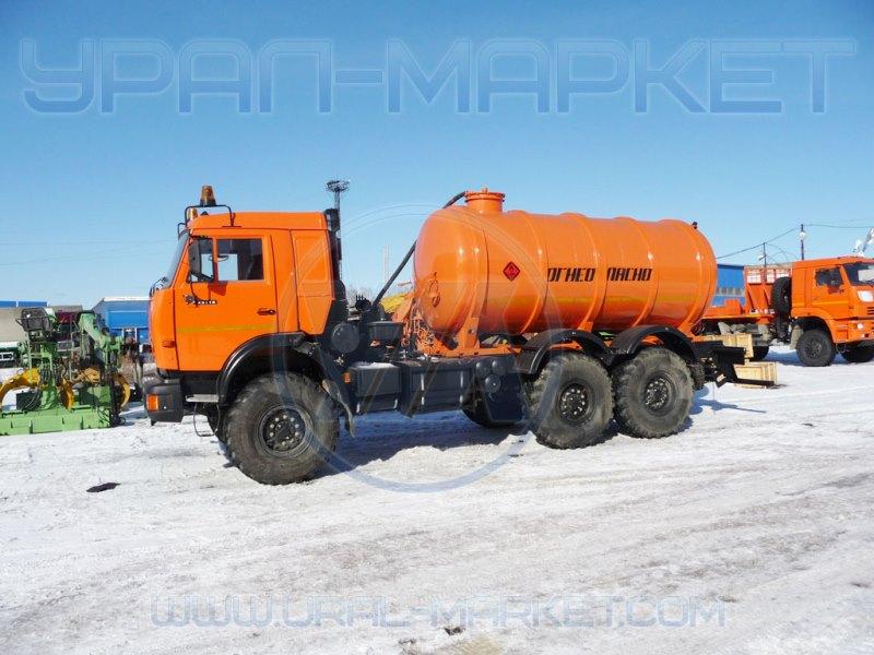 Автоцистерна для сбора нефтепродуктов АКН-10 «Камаз 43118»