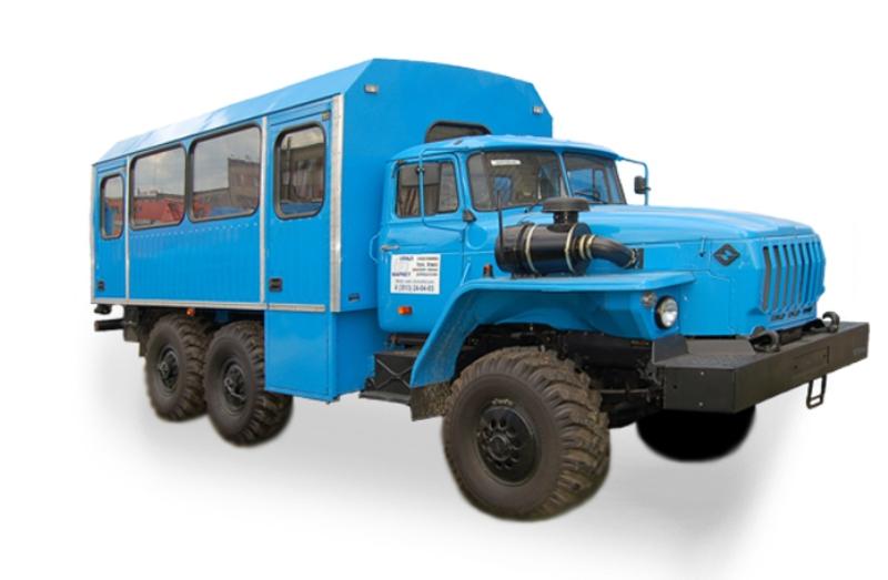 Вахтовый автобус «Урал-32551», общий вид
