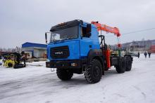 Седельный тягач 44202-3511-82 с КМУ Kanglim KS 1256GII