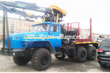 Лесовоз с гидроманипулятором ОМТЛ-97 4456N4-20 Урал 5557-1151-60М