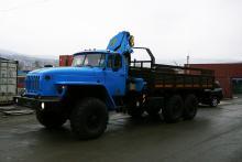 Бортовой автомобиль «Урал 4320-0911-60М» с гидроманипулятором ИНМАН ИМ-150