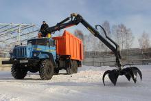 Металловоз «Урал 4320» с «Урал 4320» с ГМ Велмаш VM10L (ОМТЛ 97) и грейфером захватом
