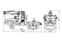 Трубоплетевоз с гидроманипулятором ОМТЛ-97 4456N2-20 Урал 55571-1151-60М