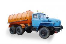 Автоцистерна для сбора нефтепродуктов АКН-6,6 «Урал 5557-1112-60М», общий вид