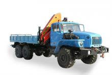 Бортовой автомобиль с гидроманипулятором Palfinger РК-15500 на шасси Урал 4320-0