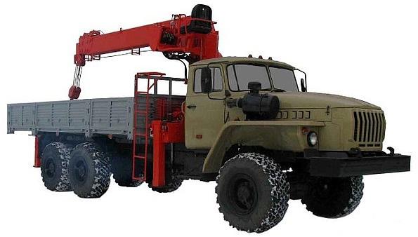 Бортовой автомобиль с гидроманипулятором ИФ-300 на шасси Урал 4320-0911-60М