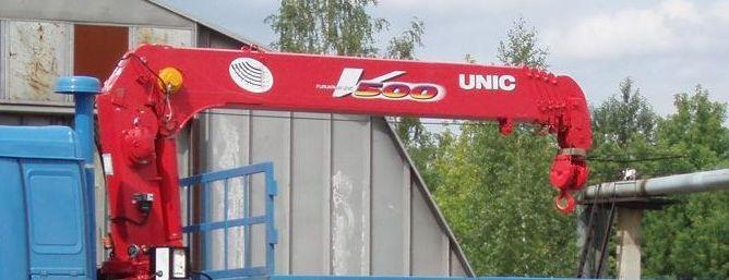 Бортовой автомобиль с гидроманипулятором UNIC-V503 на шасси Урал 4320-0911-60М