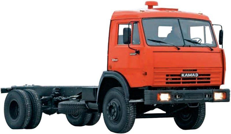 Шасси «КамАЗ 43253», на стоянке, общий вид