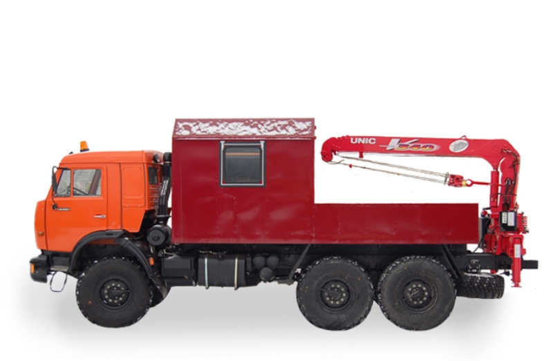 Грузопассажирский фургон ГПА «Камаз 43118» с КМУ «Unic V340»