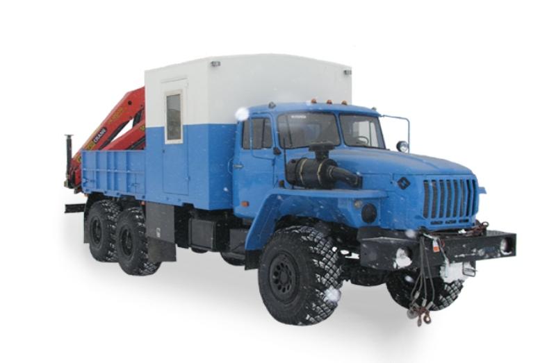ГПА «Урал 4320» с гидроманипулятором, общий вид