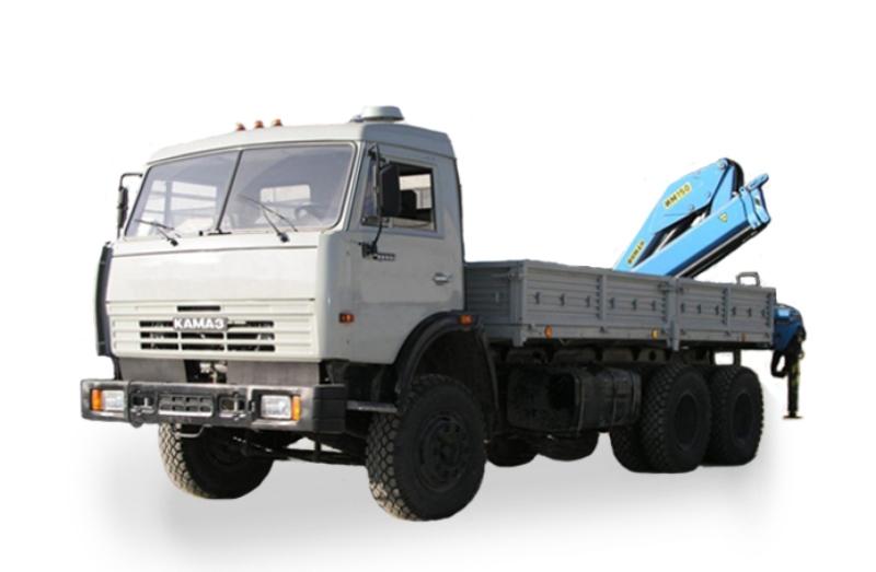 Бортовой автомобиль «Камаз 53215» с гидроманипулятором, общий вид