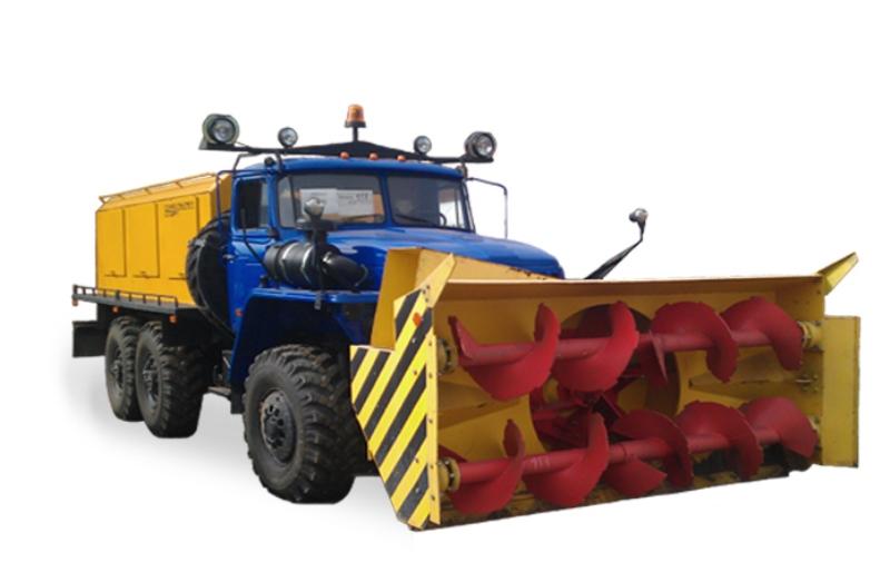 Шнекороторный снегоочиститель МКД-432069 «Урал-4320», общий вид