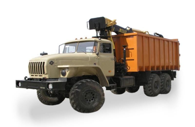 Металловоз «Урал-4320» с КМУ и грейфером, общий вид