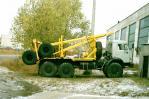 Лесовоз «КамАЗ 43118» с прицепом-роспуском, вид с боку