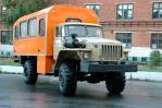 Вахтовый автобус «Урал-32552», общий вид спереди