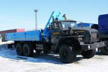 Бортовой автомобиль «Урал 4320-0911-60М» с гидроманипулятором ИНМАН ИМ-95