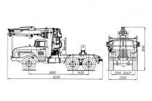 Трубоплетевоз с гидроманипулятором ОМТЛ-97 4456N1-20 на шасси Урал 5557-1151-60М
