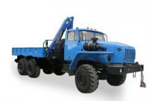 Бортовой автомобиль «Урал 4320-0911-60М» с гидроманипулятором, общий вид